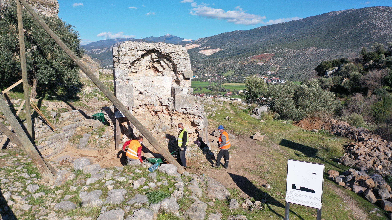 Beçin Ancient City in Muğla, southwestern Turkey, March 26, 2021. (AA Photo)