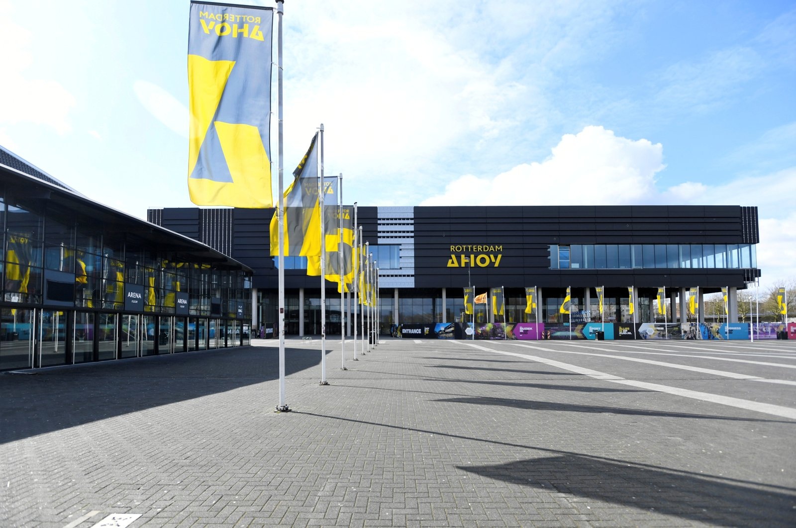The Rotterdam Ahoy arena where the Eurovision Song Contest will be held in May, Rotterdam, the Netherlands, March 30, 2020. (Reuters Photo)