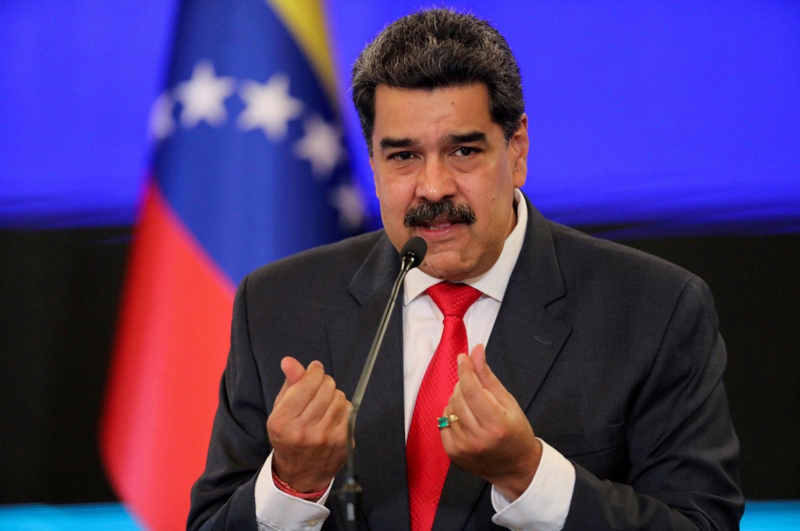 Venezuelan President Nicolas Maduro gestures as he speaks during a news conference in Caracas, Venezuela, Dec. 8, 2020. (Reuters Photo)