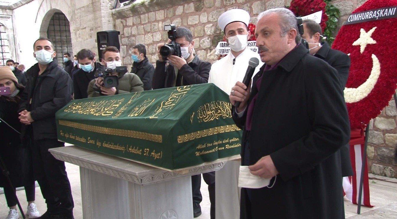 Parliament Speaker Mustafa Şentop attends the funeral of Mehmet Genç, Istanbul, Turkey, March 19, 2021. (İHA Photo)
