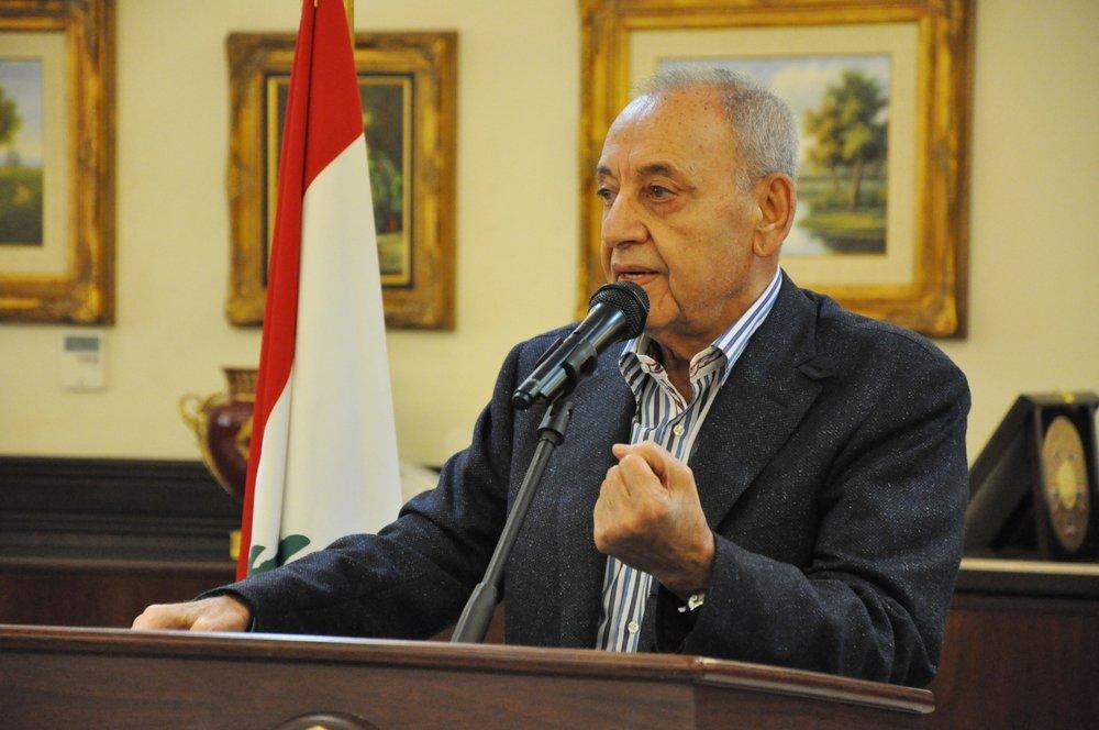 President of the Lebanese Parliamentary Speaker Nabih Berri during a press conference in Beirut, Lebanon, Aug. 30, 2017. (Shutterstock Photo)