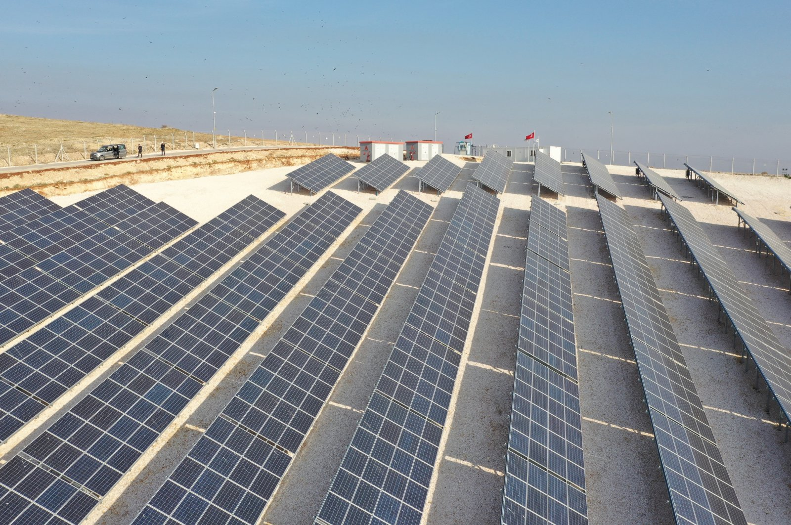 Solar panels in Gaziantep province, southeastern Turkey, March 15, 2021. (AA Photo)