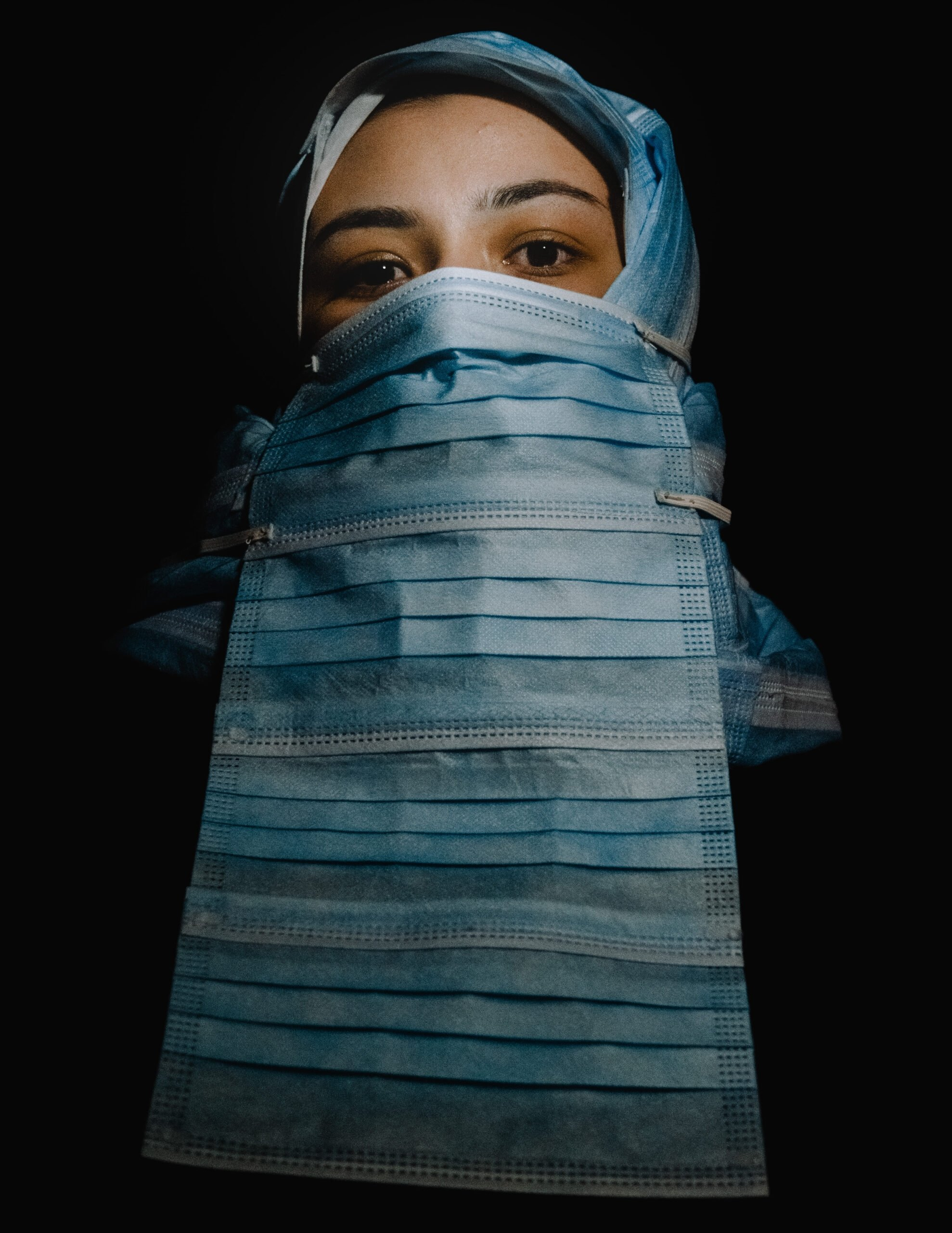 """'Legal Burka"""" by Ersem Erçil on a model in the Netherlands, March 29, 2021. (AA Photo)"""