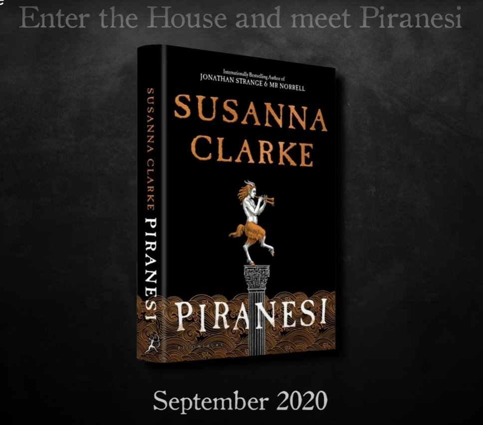 A still shot from Bloomsbury Publishing's promotional video shows Susanna Clarke's 'Piranesi' cover.