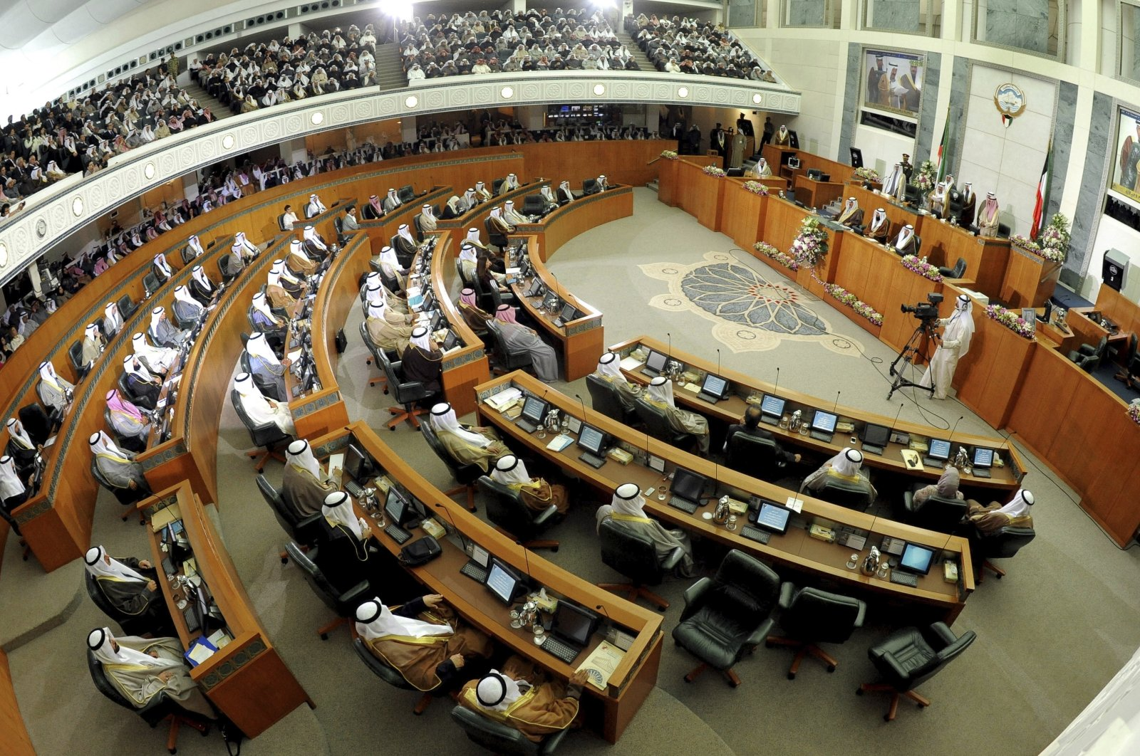 Parliament members gather at Kuwait's National Assembly, in Kuwait, Dec. 16, 2012. (AP Photo)