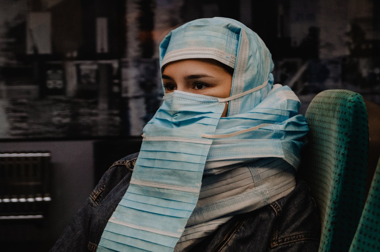 """""""Legal Burka"""" by Ersem Erçil on a model in the Netherlands, March 29, 2021. (AA Photo)"""