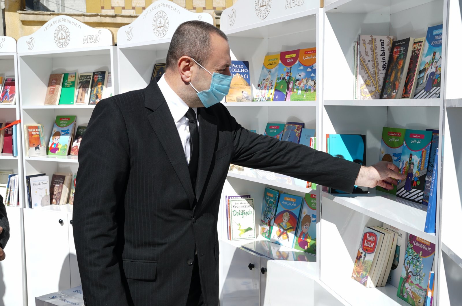Goodness Libraries established by Turkish NGO Iyilikder in northern Syria, March 30, 2021. (AA Photo)