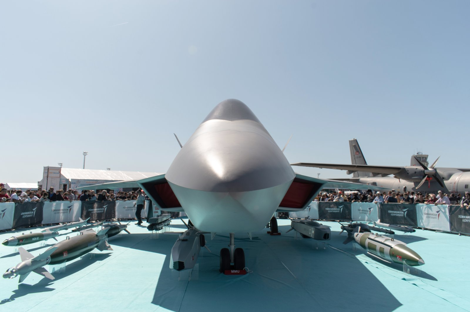 The TF-X National Combat Aircraft (MMU) of TAI showcased during Teknofest held between Sept. 17-22, 2019, at Atatürk Airport, Istanbul, Turkey. (Shutterstock Photo)