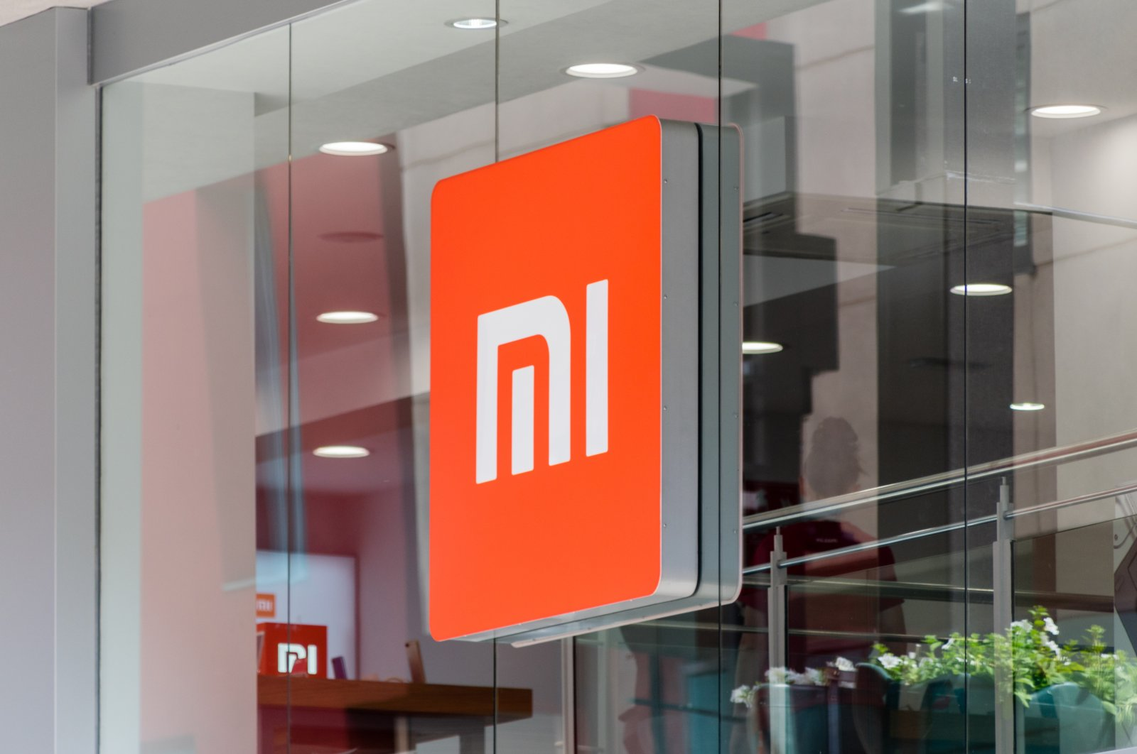 The Xiaomi logo on a retail store in Andorra, June 3, 2019. (Shutterstock Photo)