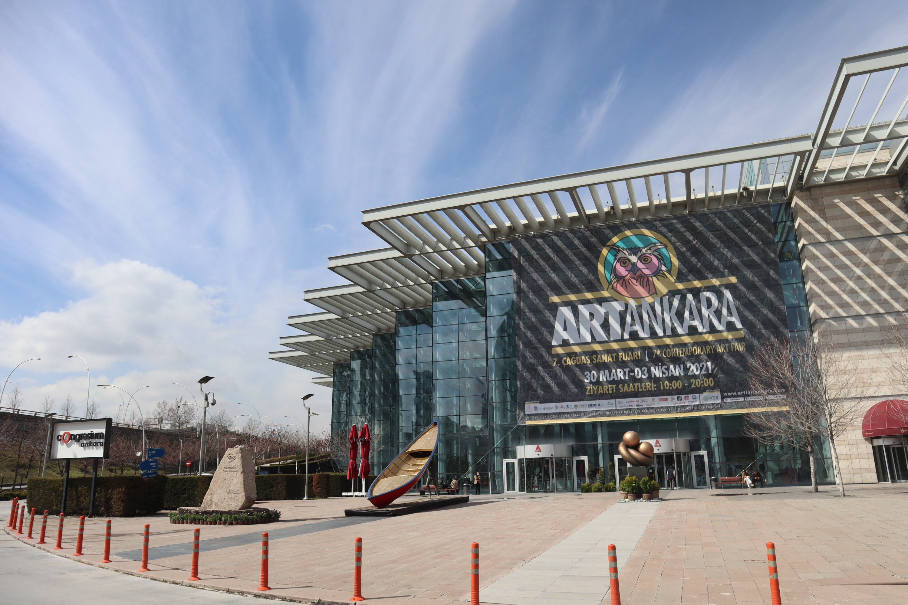 ARTANKARA is held in Ankara Congresium.(Photo by Dilara Aslan)