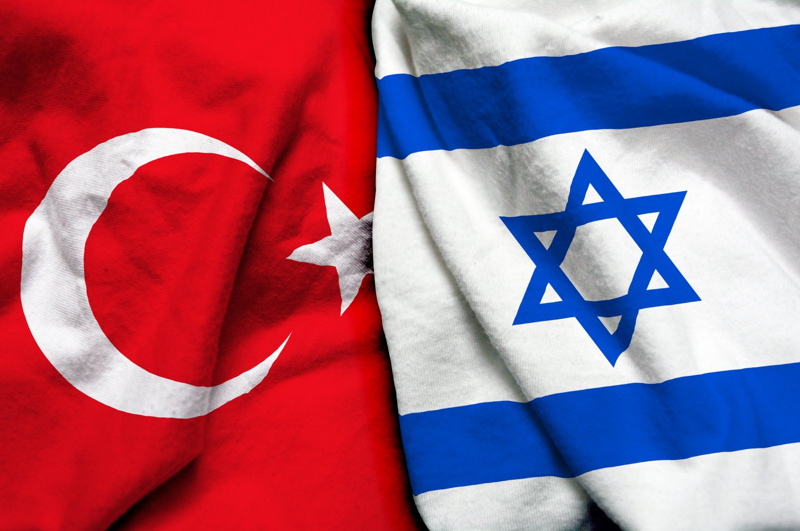 In this illustration photo, the flags of Turkey (L) and Israel are displayed side by side. (Photo by Shutterstock)