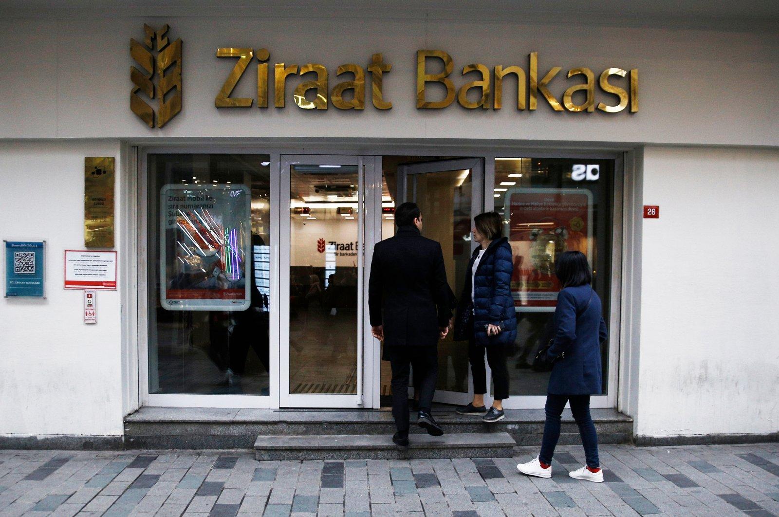 People walk past a Ziraat Bank branch in Istanbul, Turkey, Jan. 3, 2019. (Shutterstock Photo)
