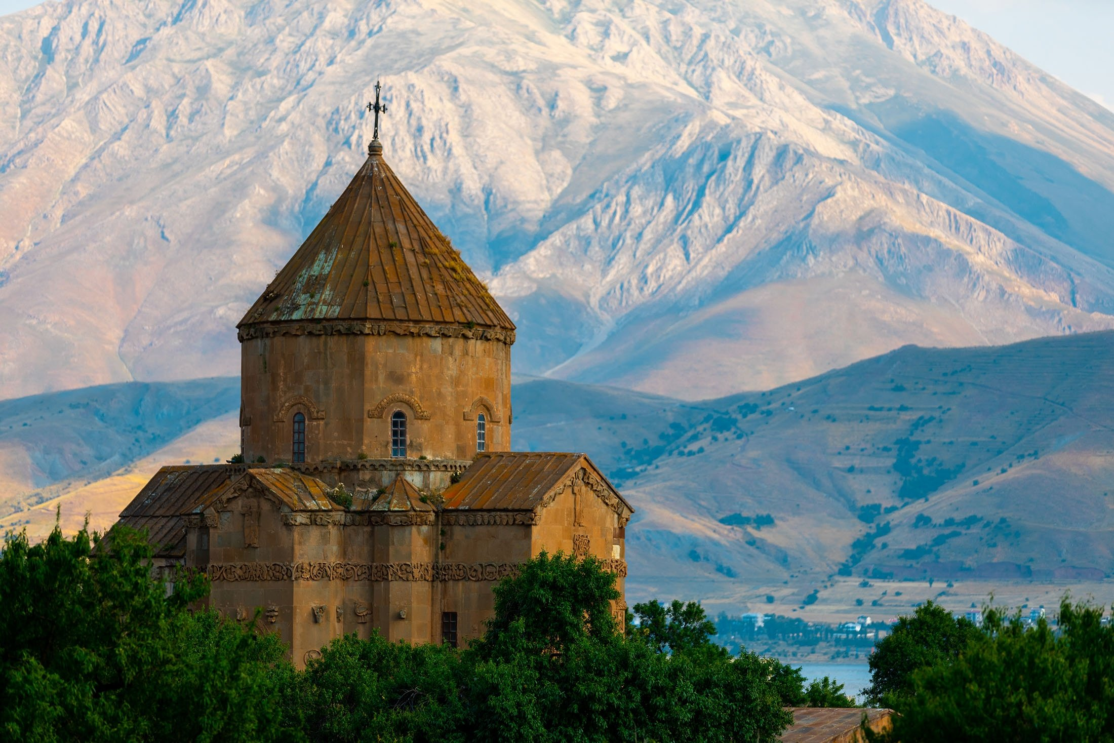 The Cathedral of the Holy Cross on Akdamar Island in Lake Van, eastern Turkey. (Shutterstock Photo)