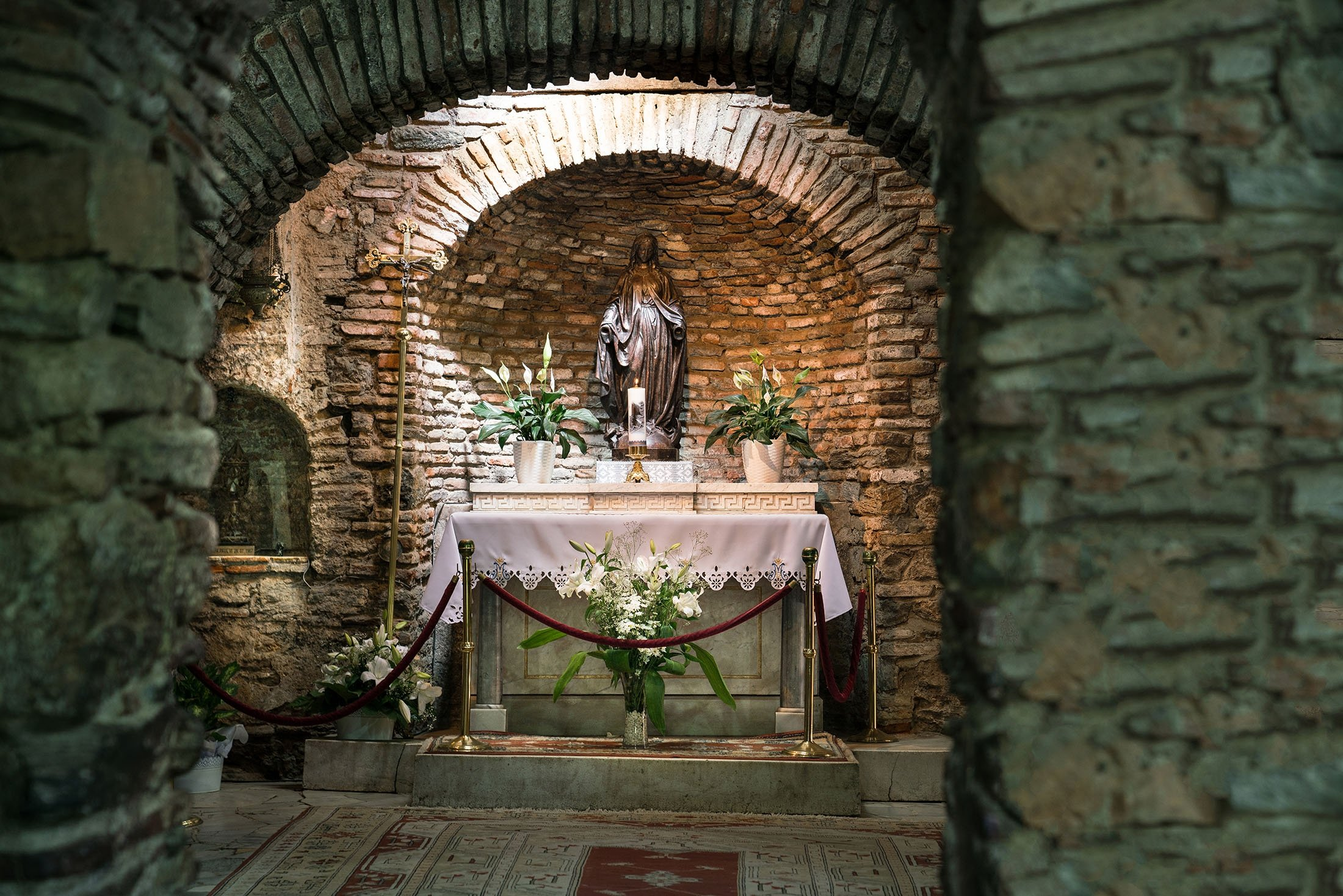 The House of Virgin Mary (Meryem Ana in Turkish) is believed to be the last home of Mary, the mother of Jesus. (Shutterstock Photo)