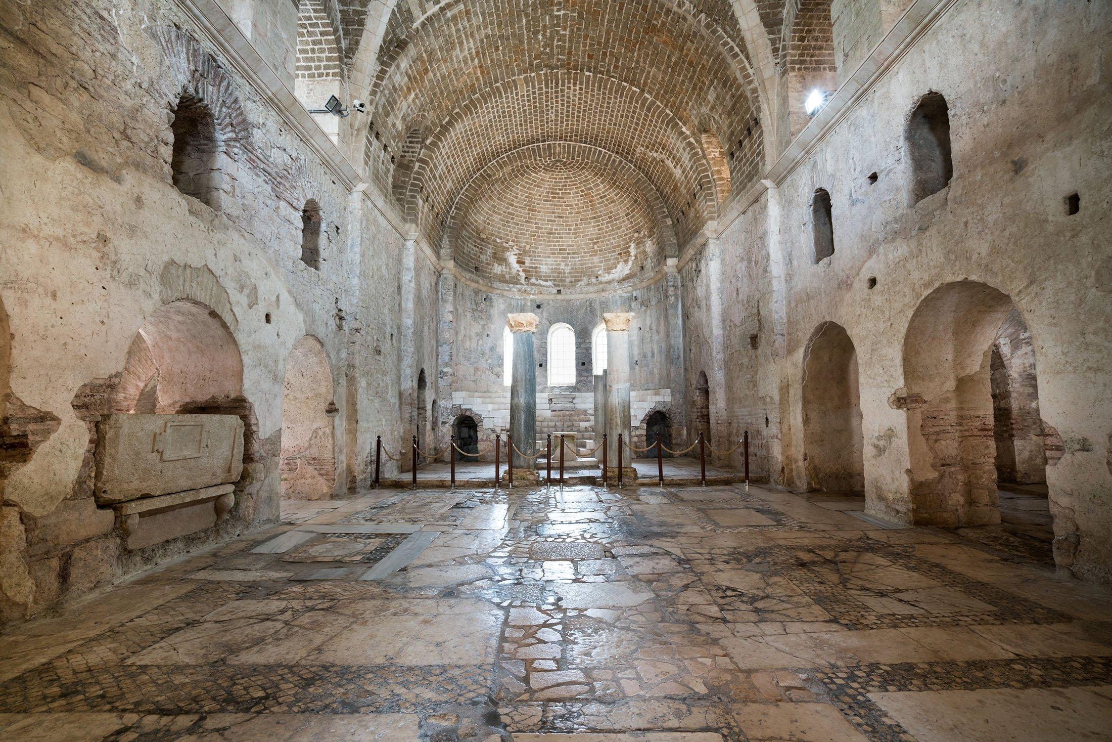 The interior of the St. Nicholas Church in Antalya, southern Turkey, November 12, 2016. (Shutterstock Photo)