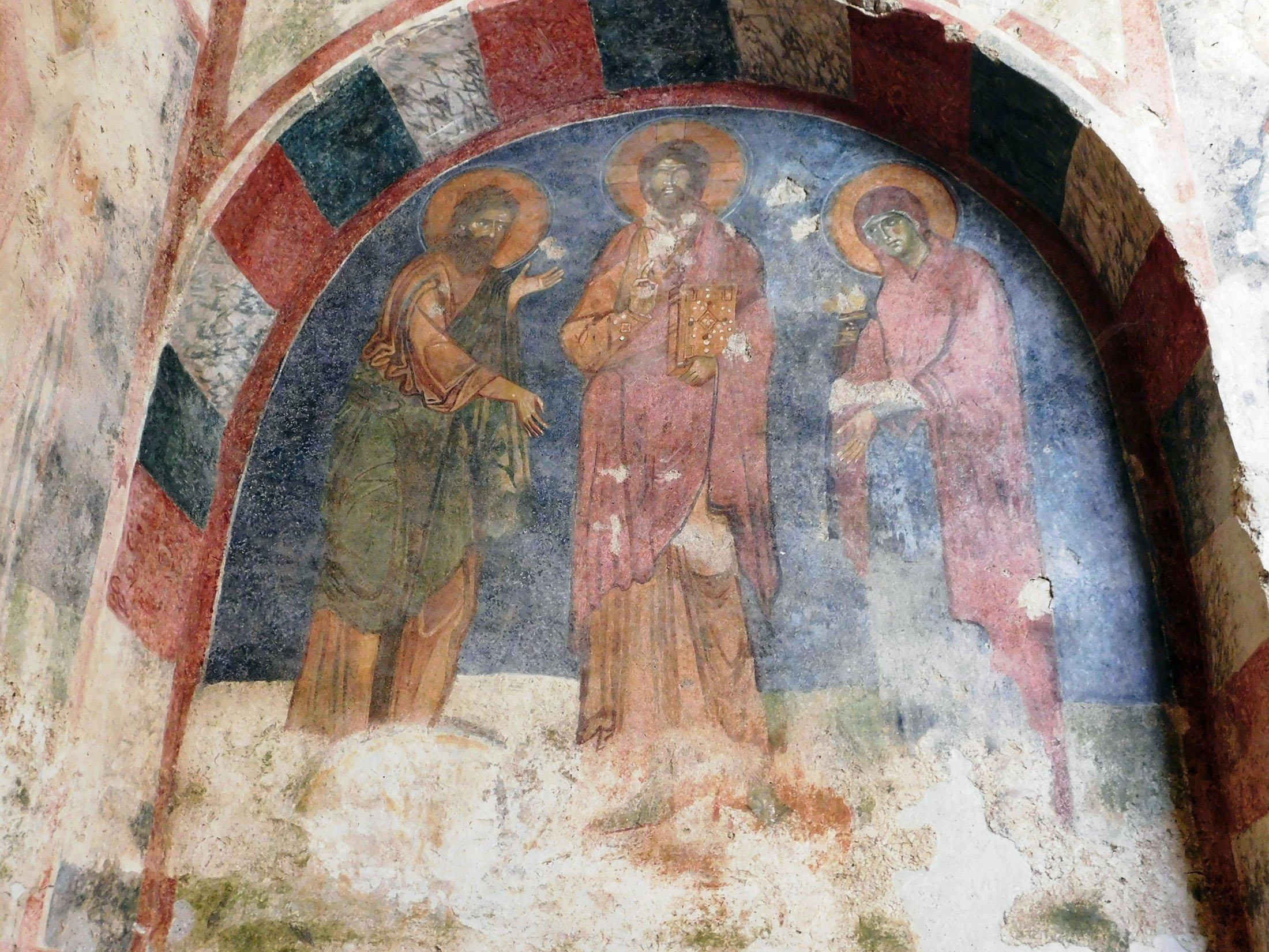 Frescos in the Saint Nicholas church in Demre, Antalya, southern Turkey. (Shutterstock Photo)