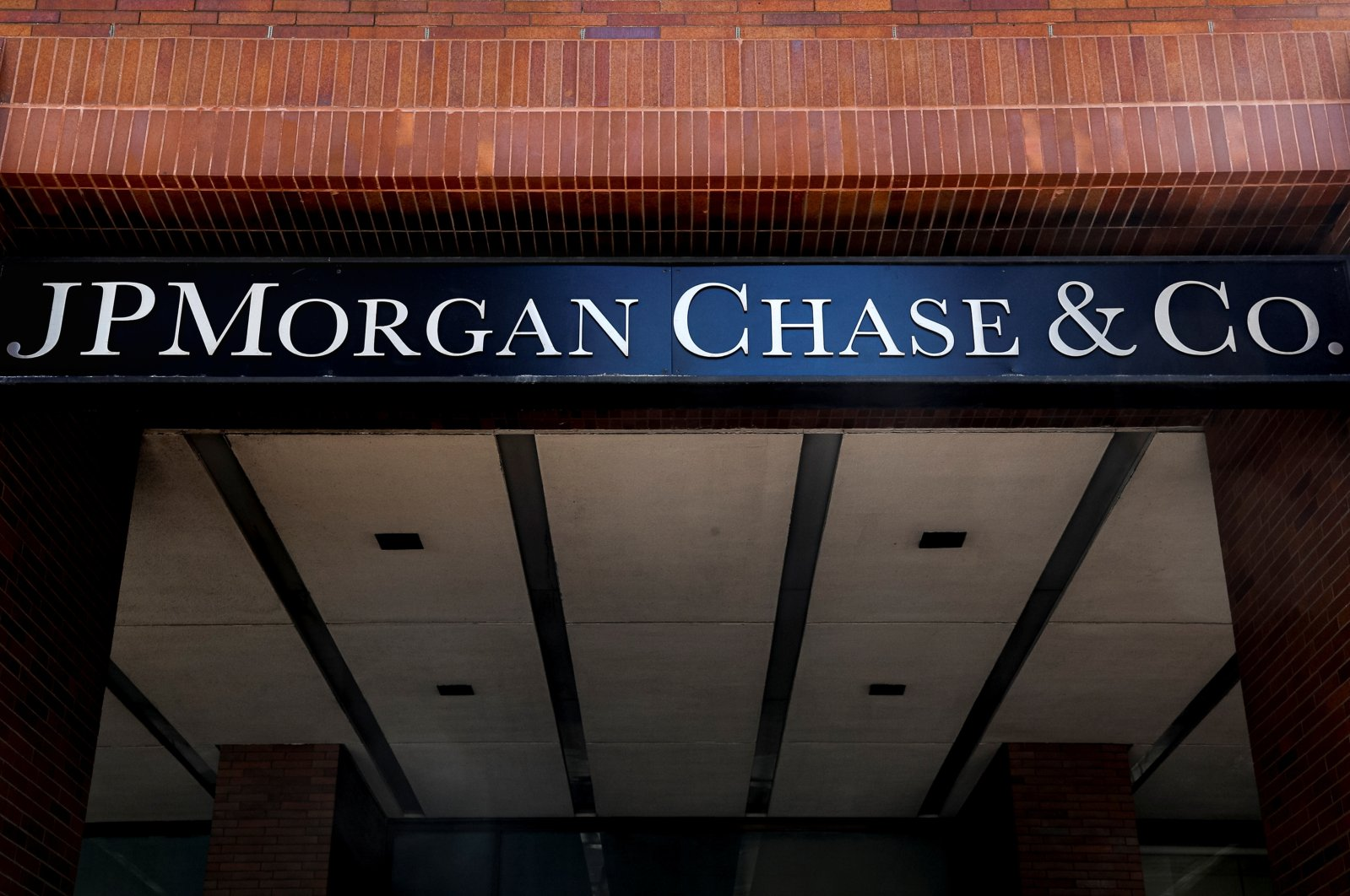 A sign outside JP Morgan Chase's offices in New York City, New York, U.S., March 29, 2021. (Reuters Photo)