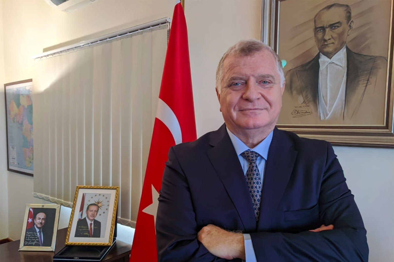 Ankara's envoy to Mozambique Avni Aksoy during an interview with the Anadolu Agency (AA), in Maputo, Mozambique, April 2, 2021. (AA)