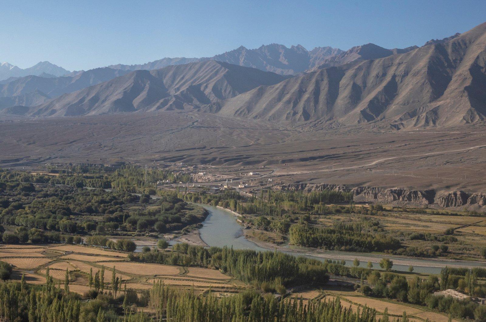 The Indus River flows through Leh, in the Ladakh region, India, Sept. 14, 2020. (Reuters Photo)