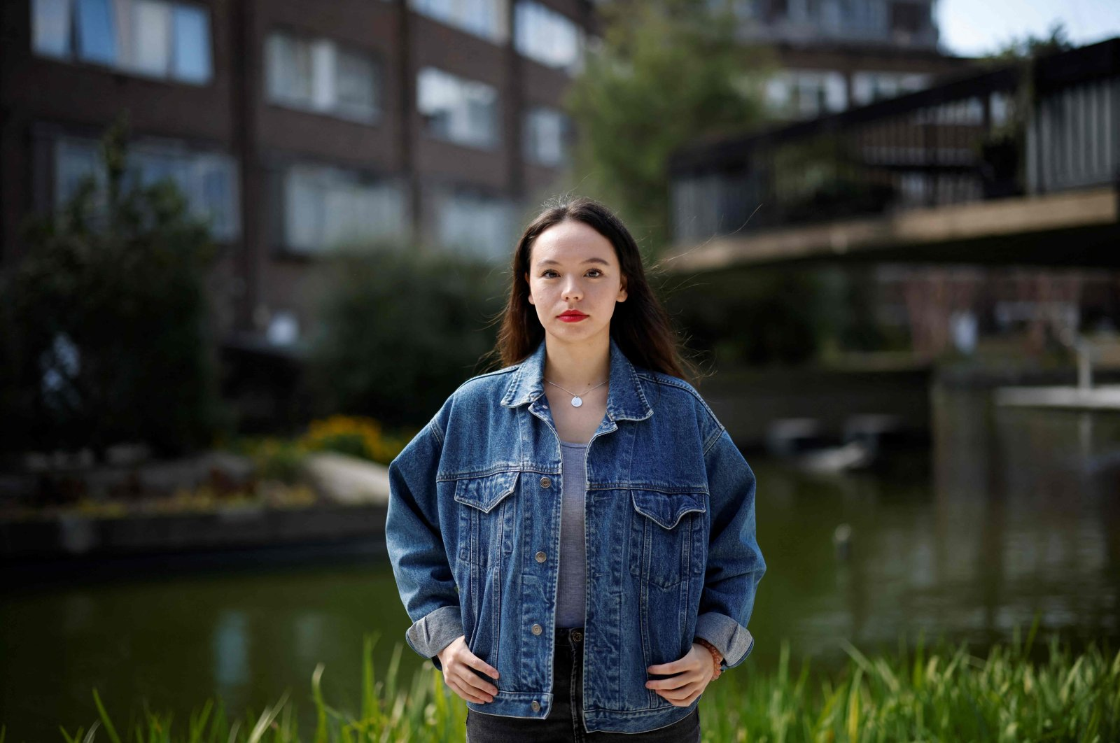 """Creator of the website """"Everyone's Invited,"""" Soma Sara poses during an interview with AFP at The Water Gardens in Westminster, central London, U.K., April 4, 2021. (AFP Photo)"""