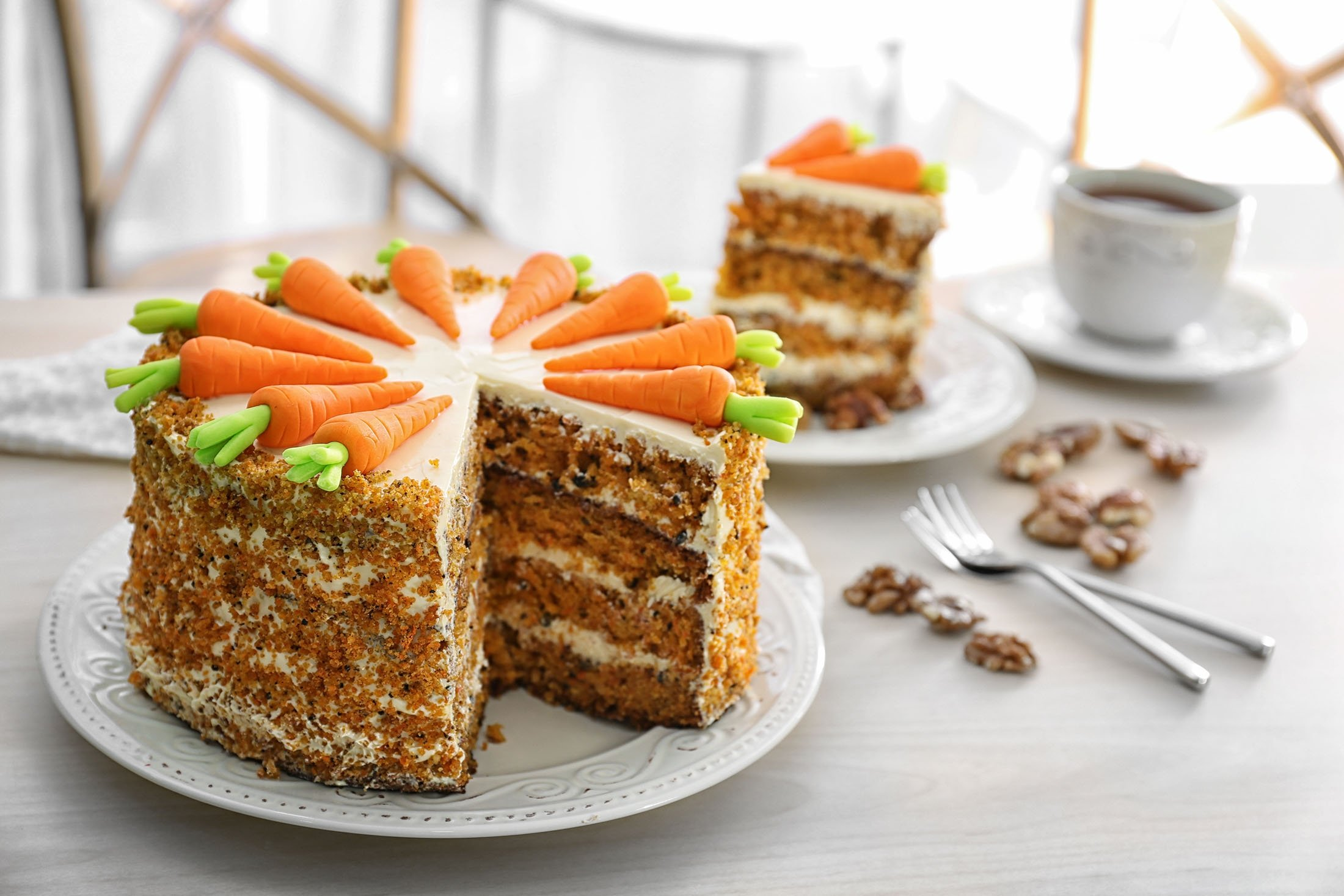 With some simple icing and marzipan carrots, you can transform a basic carrot cake into the perfect party food. (Shutterstock Photo)