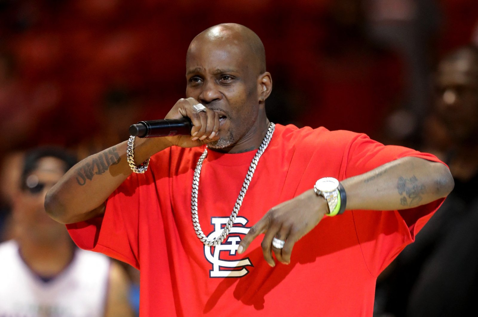 Rapper DMX performs during a concert at the UIC Pavilion in Chicago, U.S., July 23, 2017. (AFP Photo)