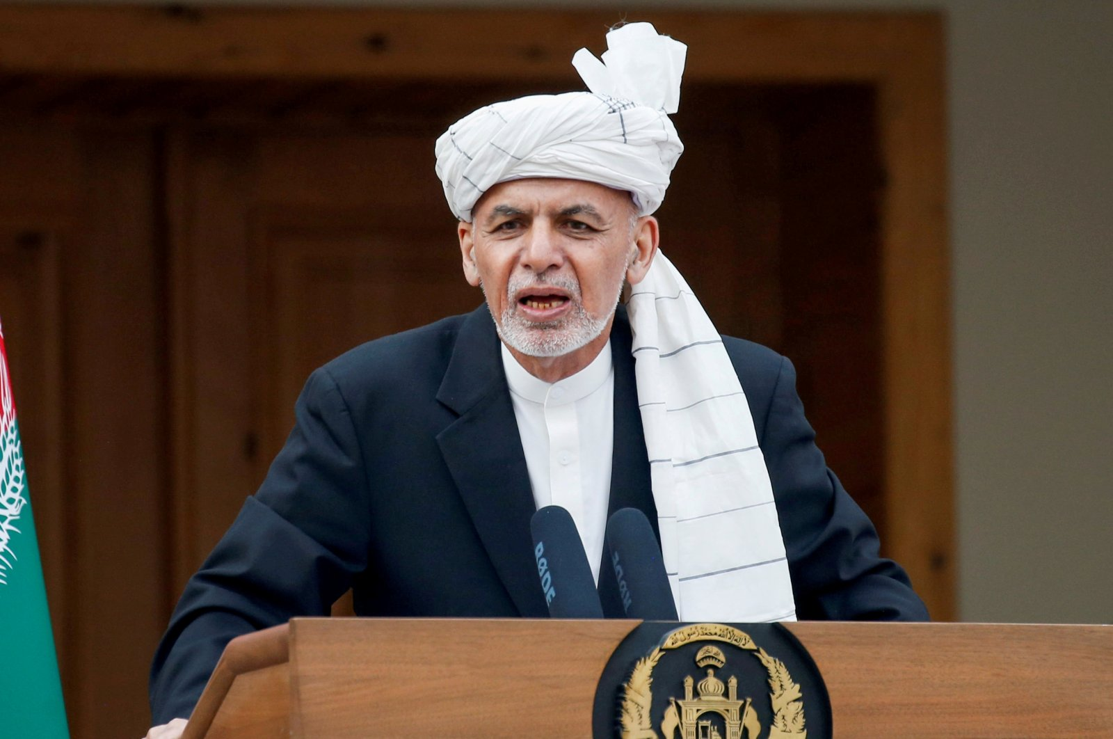 Afghanistan's President Ashraf Ghani speaks during his inauguration as president, in Kabul, Afghanistan, March 9, 2020. (Reuters Photo)