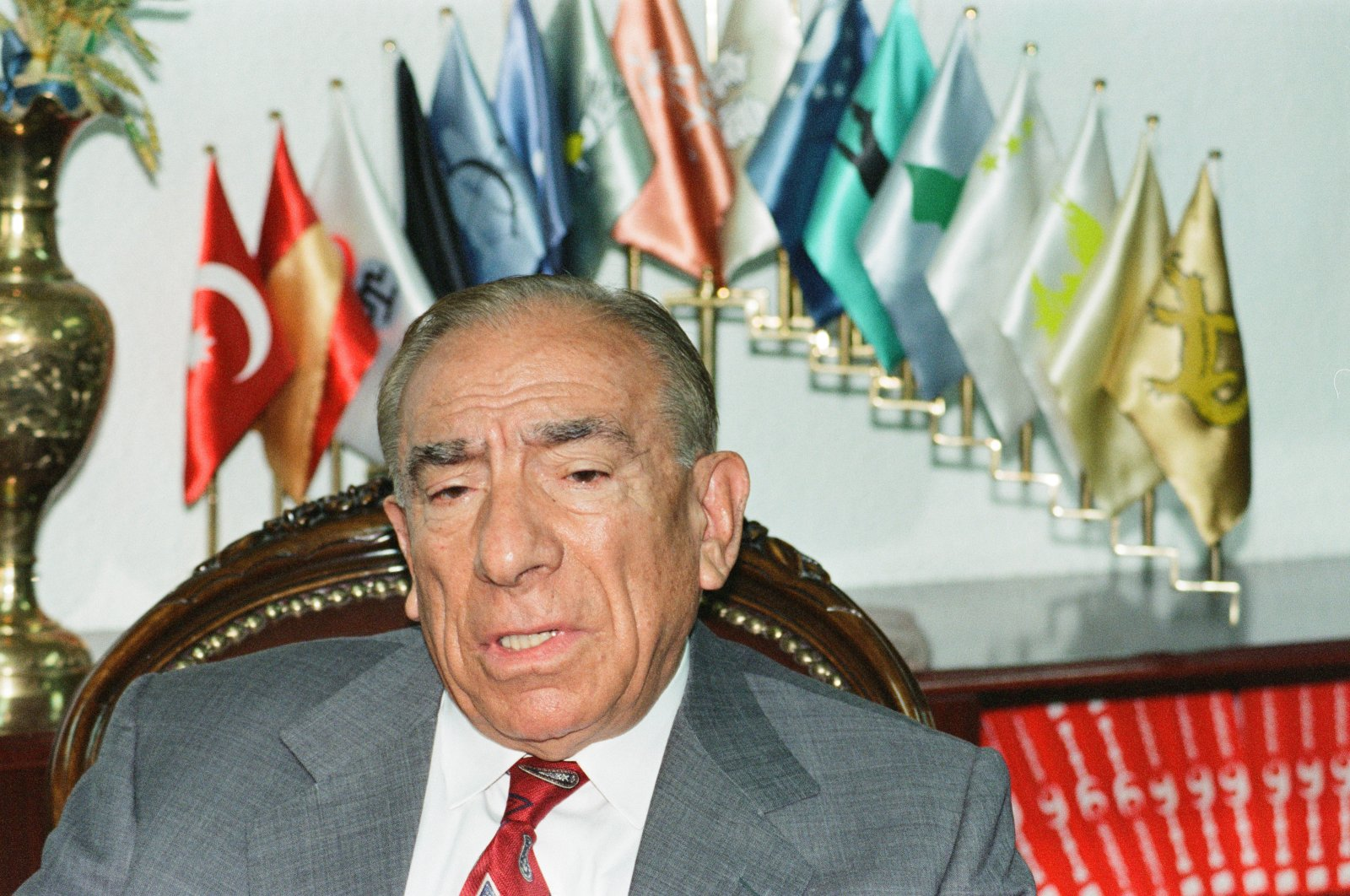 The founder of the Nationalist Movement Party (MHP) Alparslan Türkeş in this undated photo. (AA file Photo)