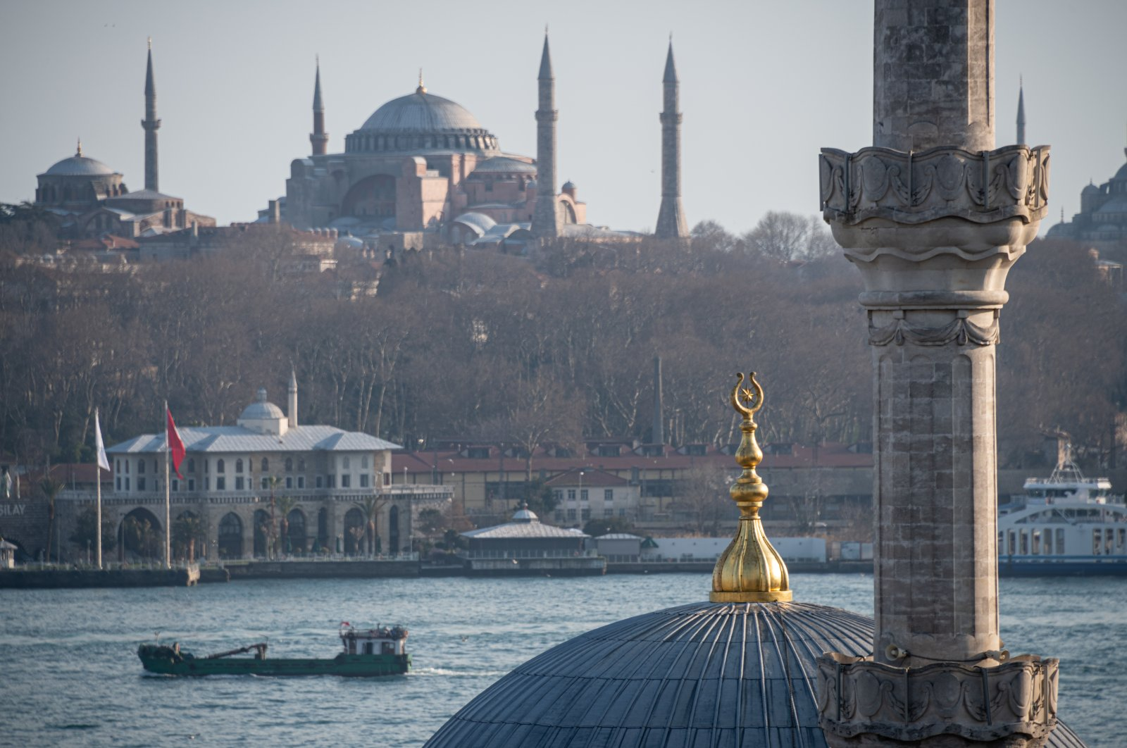 A view of Istanbul's historical peninsula showing Hagia Sophia Grand Mosque, Turkey, March 15, 2021. (Photo by Getty Images)