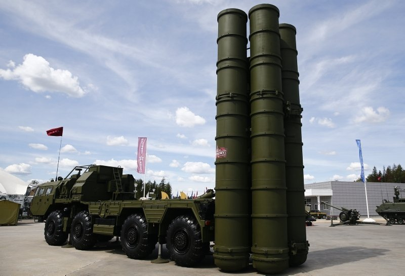 The advanced S-400 Russian air defense system. (AA Photo)