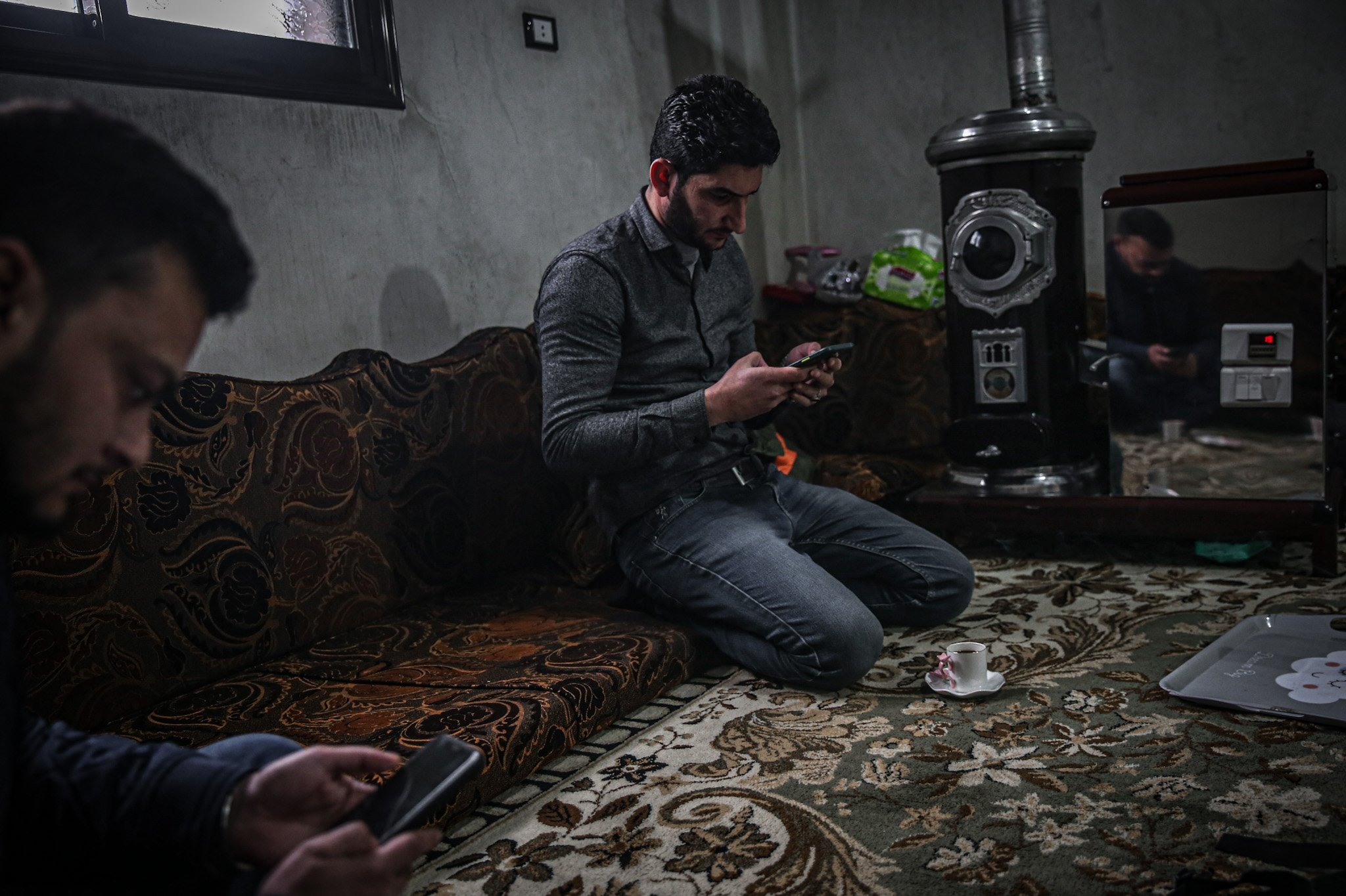 Khan Shaykhun Civil Defense Media Officer Hamid Kattini holds an interview with Anadolu Agency within the 4th year of the chemical weapons massacre over Khan Shaykhun carried out by Assad Regime in Syria on April 3, 2020.   ( Muhammed Said - Anadolu Ajansı )