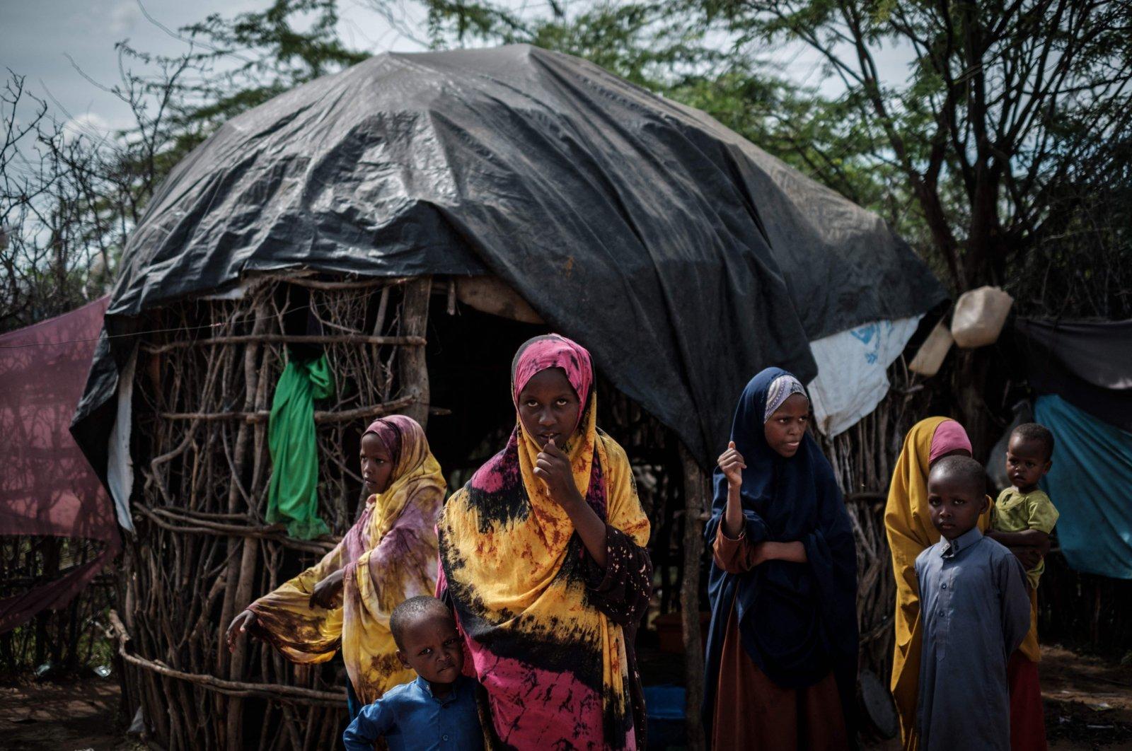 A group of Somali refugee children at the Dadaab refugee camp complex, northeast Kenya, April 16, 2018. (AFP Photo)