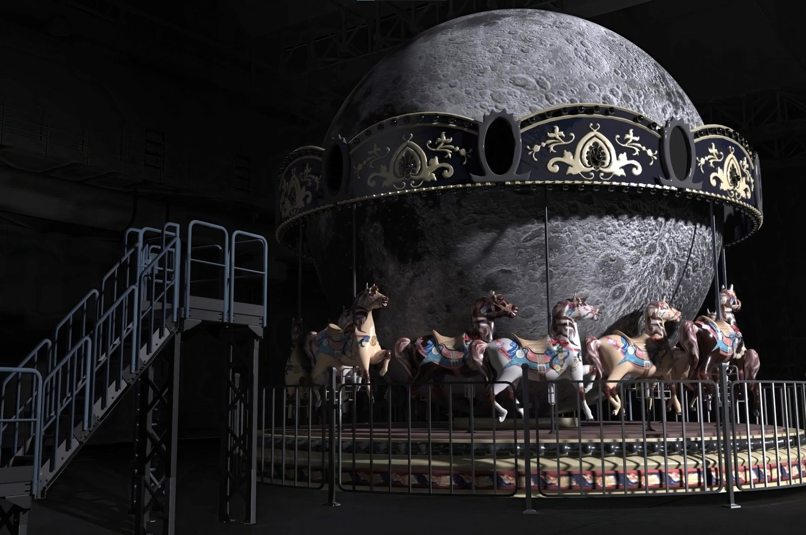 "Ergin Çavuşoğlu, ""L.O.L.A. / The Dark Side of The Moon,"" 2021, video still."