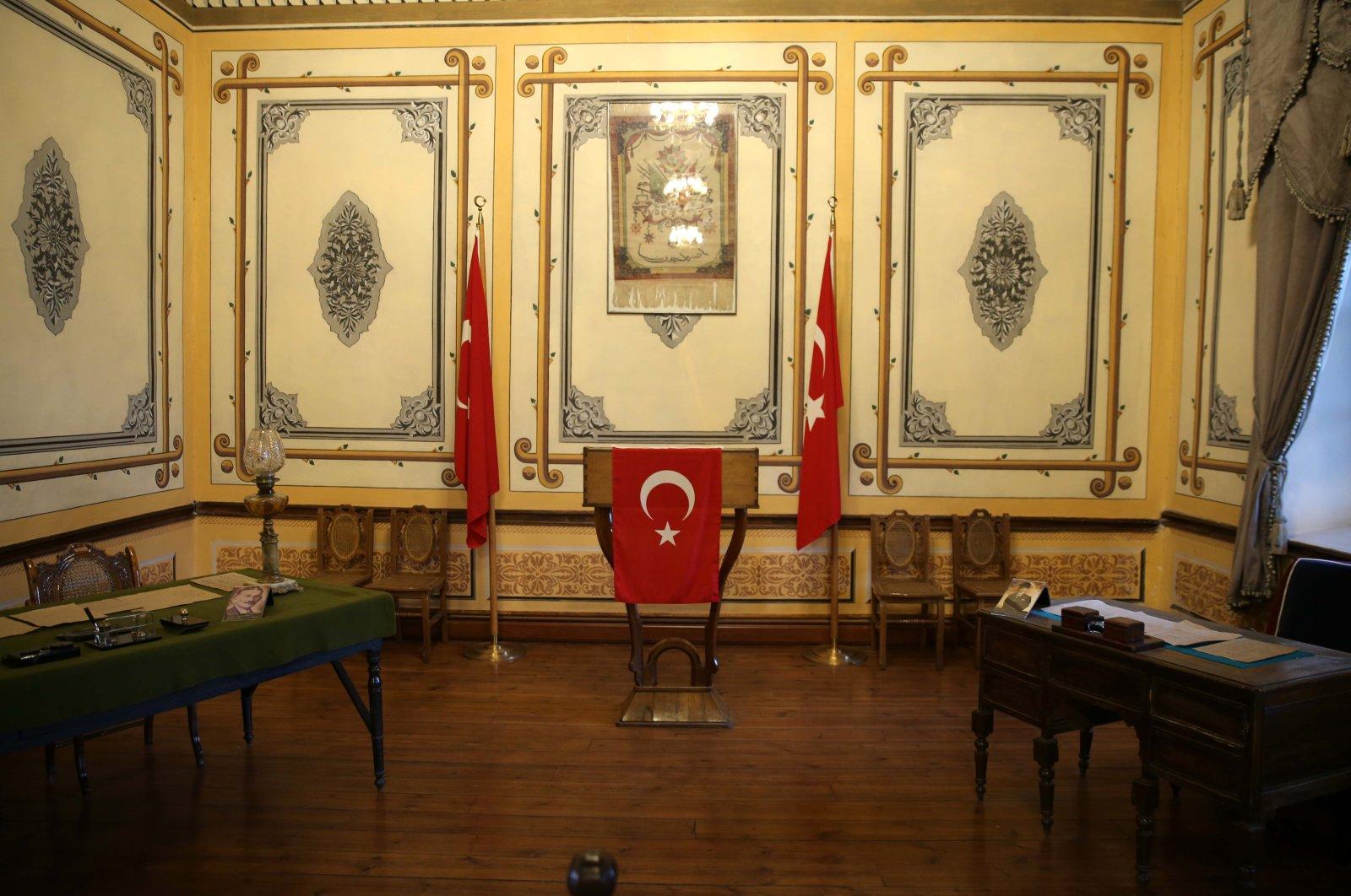 The interior of the Atatürk and Sivas Congress Museum, Erzurum, eastern Turkey, April 5, 2021. (AA Photo)
