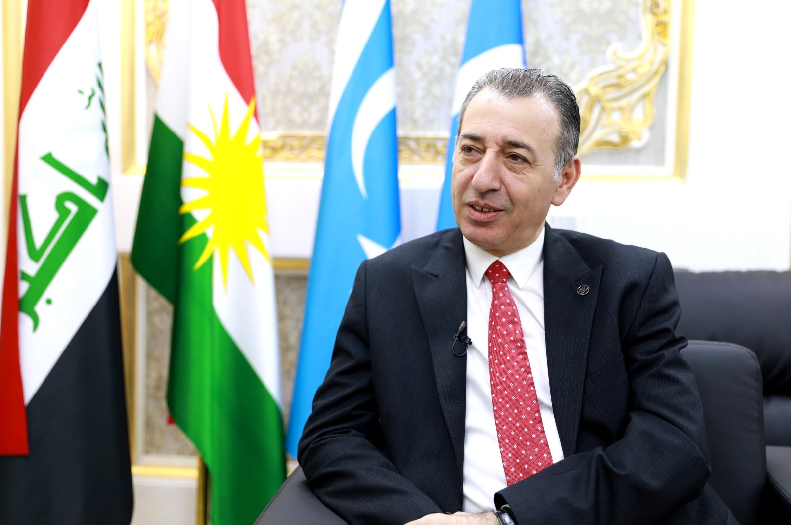 KRG Minister of Region for Components' Affairs Aydın Maruf speaks in an interview with the Anadolu Agency (AA) in Kirkuk, Iraq, April 6, 2021 (AA Photo)