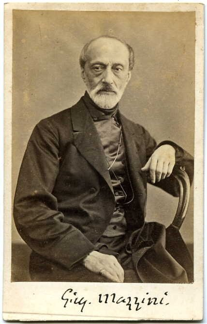 Photograph of Giuseppe Mazzini by Domenico Lama.