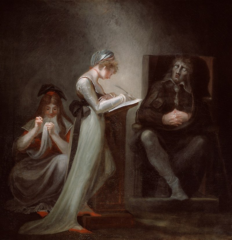 'Milton Dictating to His Daughter' by Swiss painter Henry Fuseli.