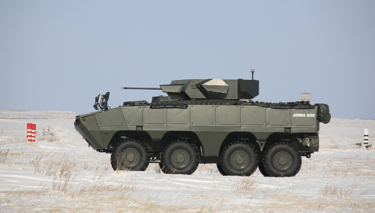 Otokar's Arma 8x8 tailored for Kazakhstan seen during a test run in the Central Asian country, Kazakhstan, March 1, 2021. (Photo by Kazakhstan Defense Ministry via AA)