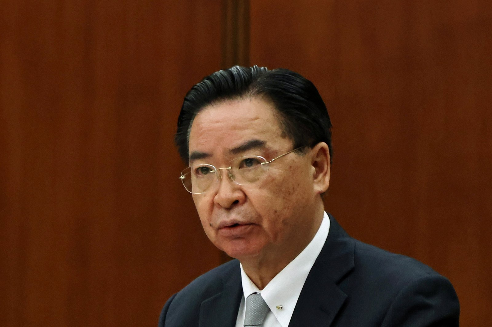 Taiwan Foreign Minister Joseph Wu attends a news conference for foreign journalists in Taipei, Taiwan, April 7, 2021. (Reuters Photo)