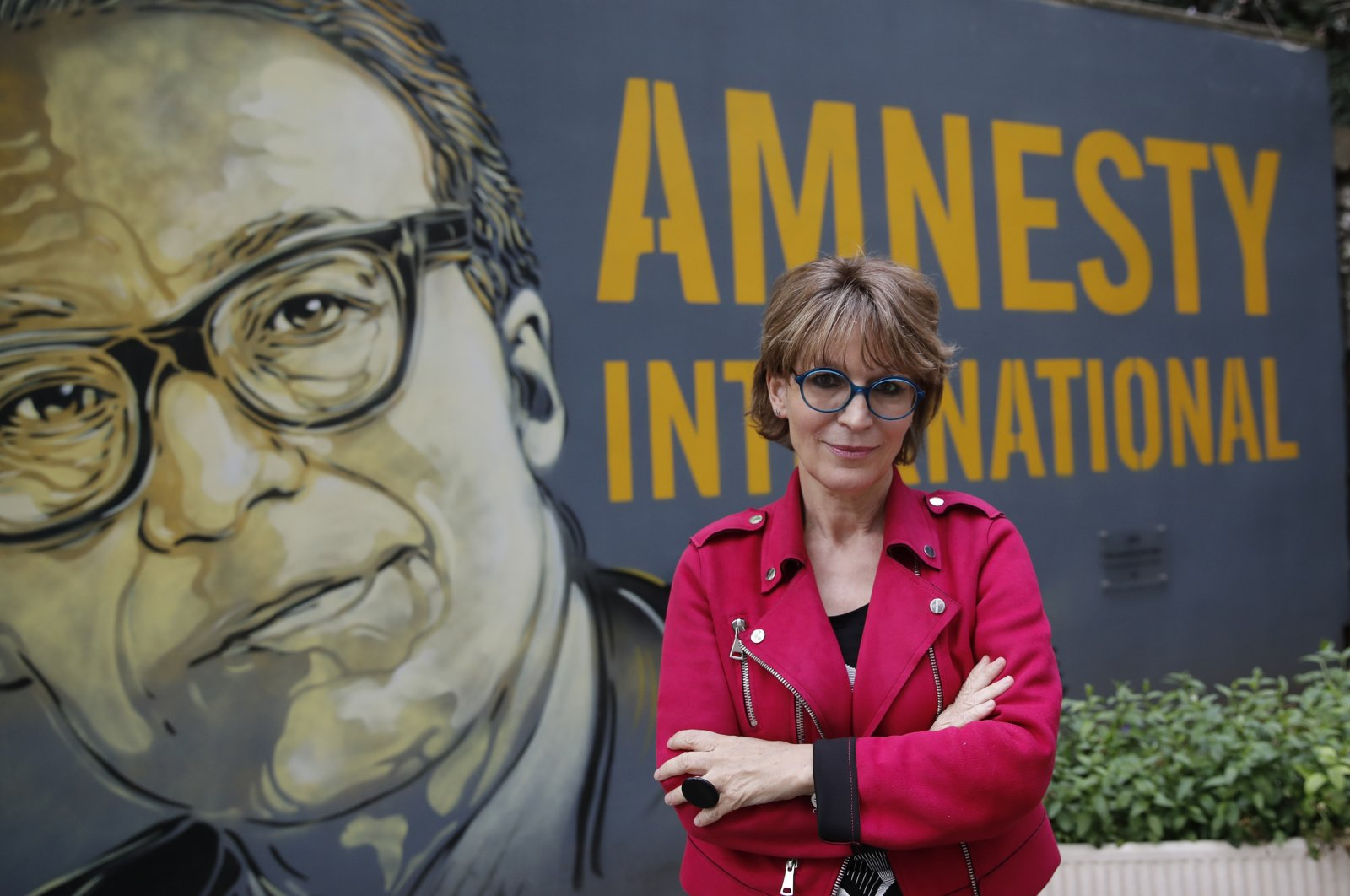 Amnesty International Secretary General Agnes Callamard poses in Paris, France, April 6, 2021. (AP Photo)