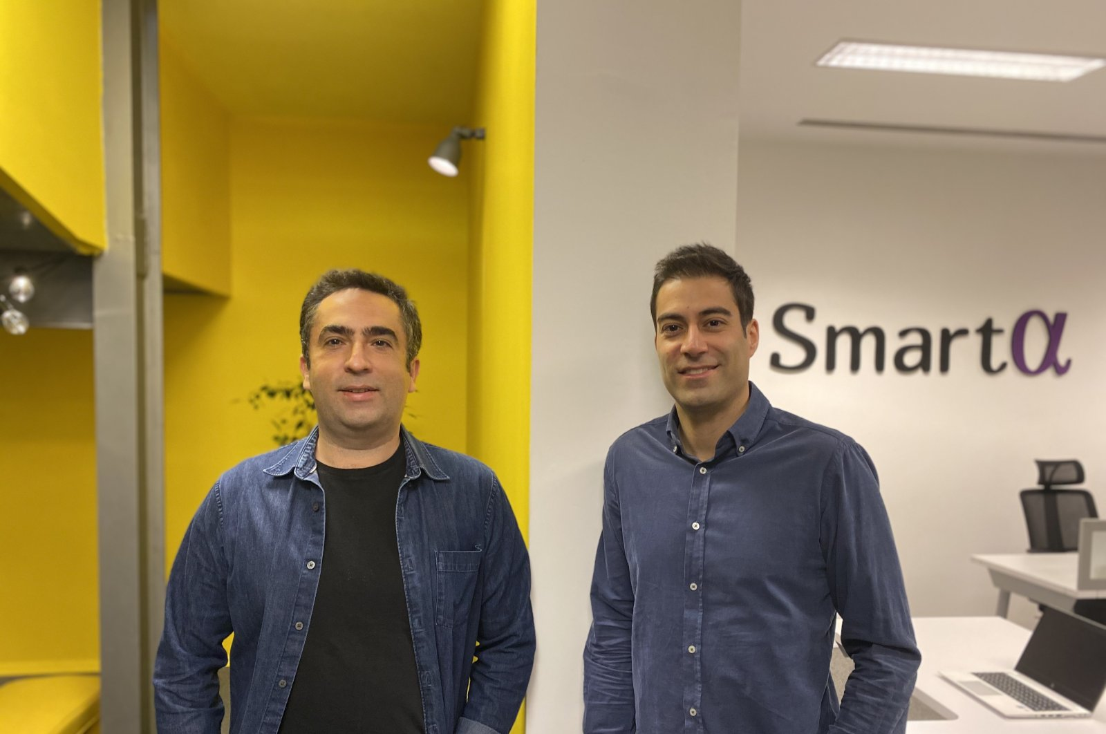 Utku Kaya (L) and Ozan Biler, co-founders of SmartAlpha. (Courtesy of SmartAlpha)