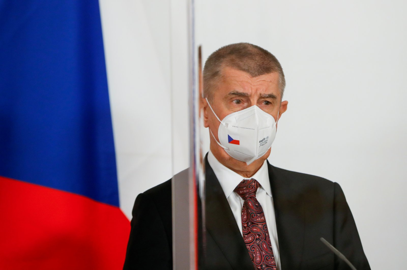 Czech Republic's Prime Minister Andrej Babis attends a news conference in Vienna, Austria, March 16, 2021. (Reuters Photo)