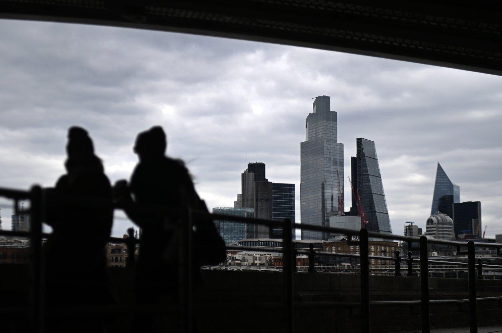 London's financial district, the City of London, London, Britain, April 7, 2021. (EPA Photo)