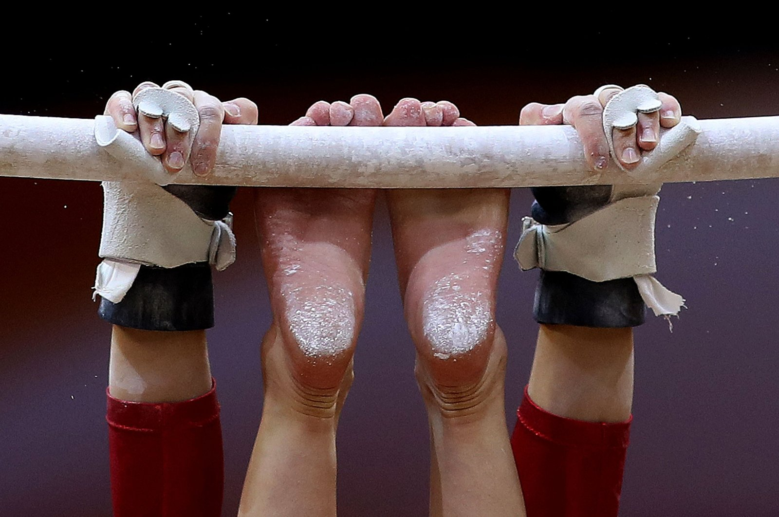 Brooklyn Moors of Canada competes in the uneven bars during the women's team final of the 2018 FIG Artistic Gymnastics Championships at Aspire Dome in Doha, Qatar, Oct. 30, 2018. (AFP Photo)
