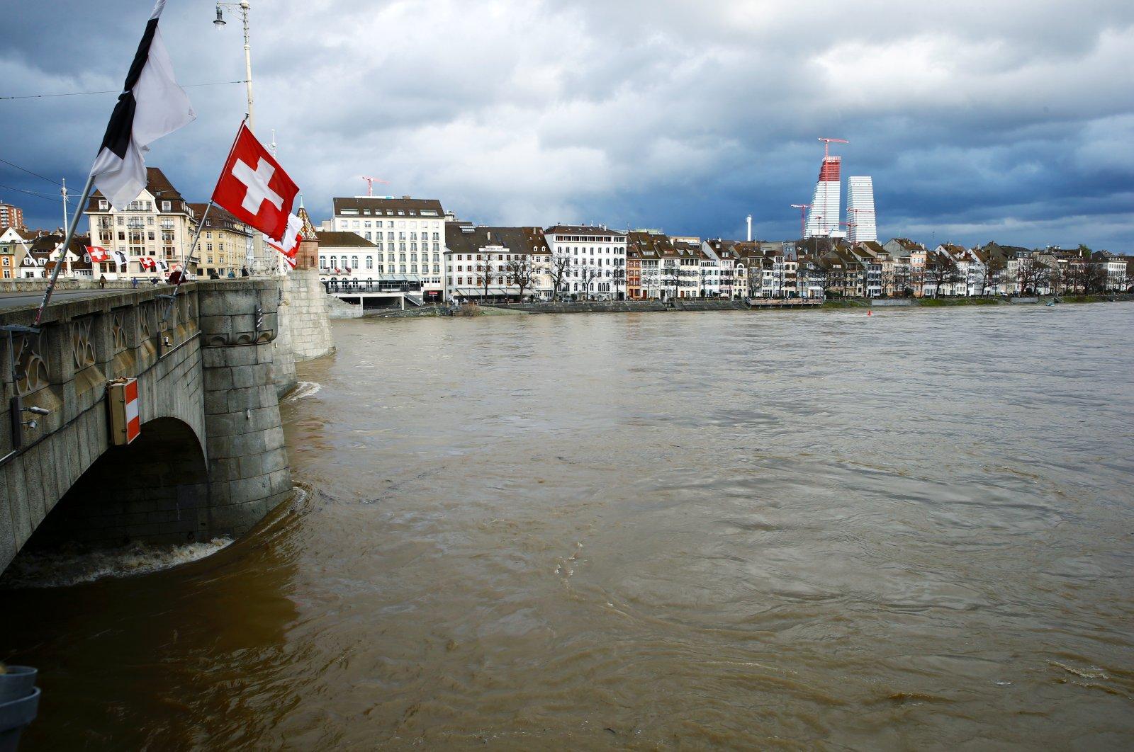 A bridge over the Rhine River in Basel, Switzerland, Jan. 29, 2021. (Reuters Photo)