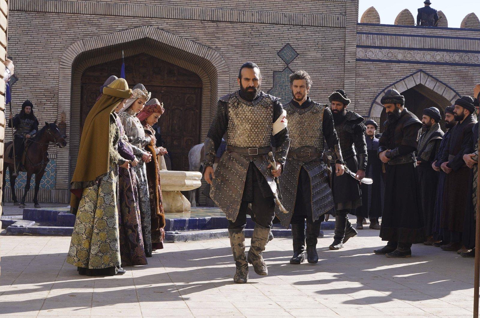 """A still shot from """"Uyanış Büyük Selçuklu"""" (""""The Great Seljuks: Guardians of Justice"""")."""