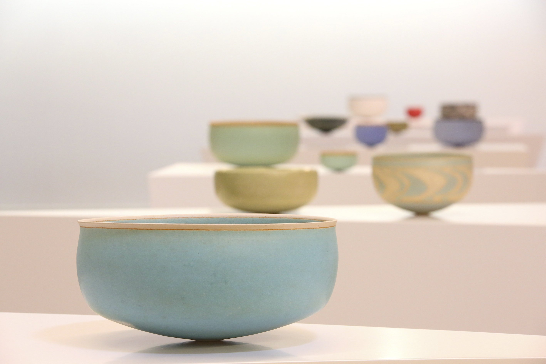Ceramic works from Alev Ebuziyya Siesbye's 'Toprak' ('Earth') exhibition in Baksı Museum, Bayburt, northeastern Turkey. (AA Photo)