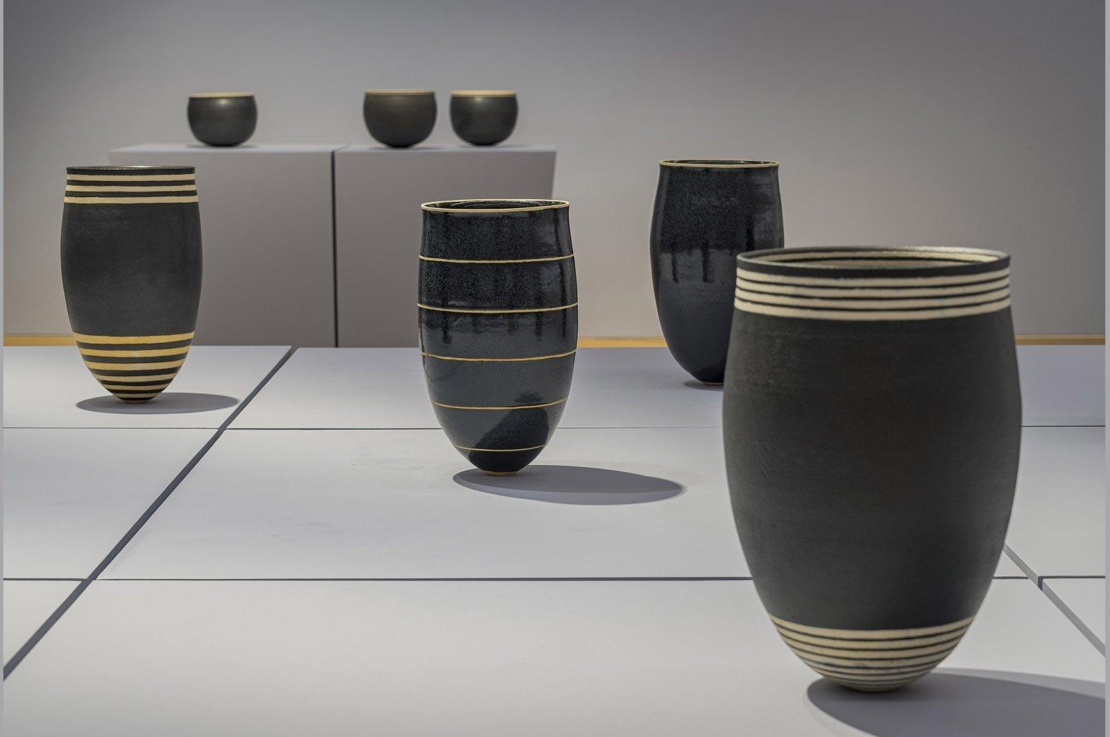 Some bowls from Alev Ebüzziya Siesbye's 'Repetition.' (Photo Courtesy of Arter)