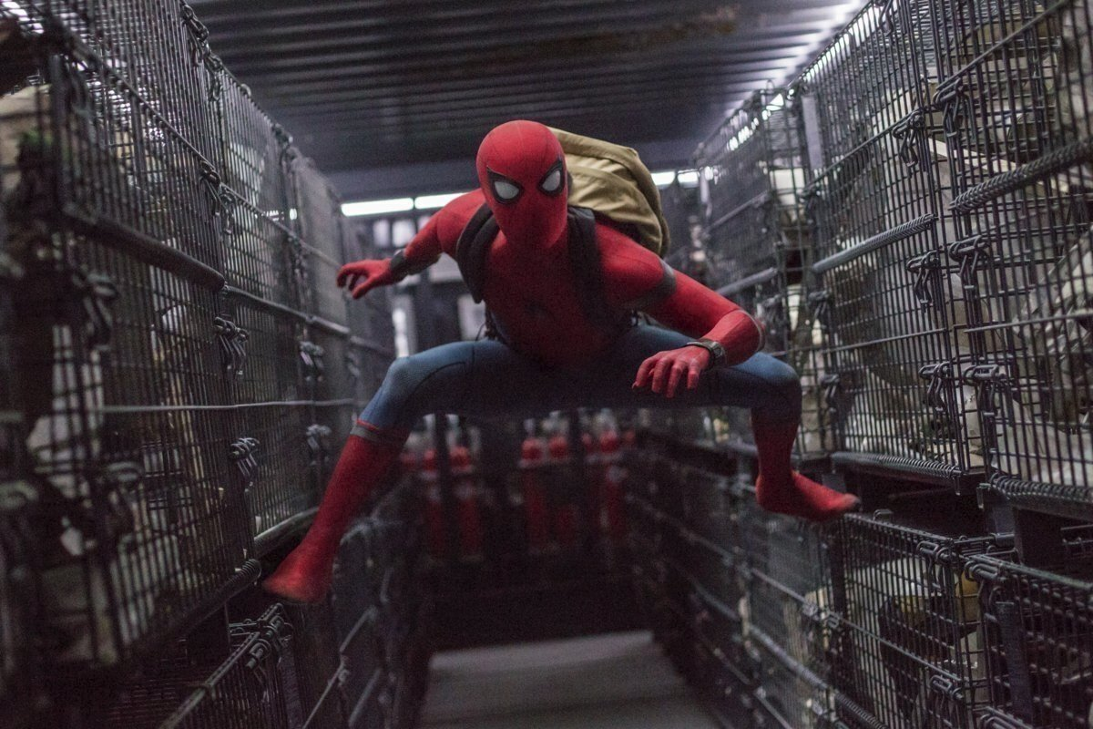 "This image released by Columbia Pictures shows Tom Holland in a scene from ""Spider-Man: Homecoming."" (AP Photo)"