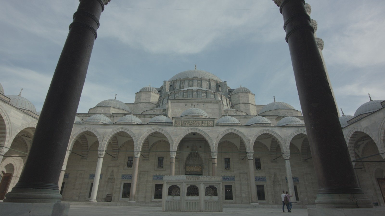 A still shot from the documentary shows Mimar Sinan's Süleymaniye Mosque in Istanbul, Turkey.
